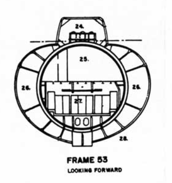 Simple hull cross section from the RCN Oberon submarine manual