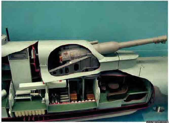 M1 cutaway model of gun