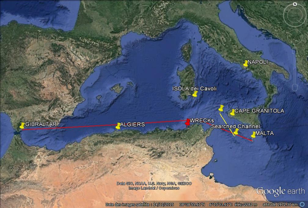 Tetrarch course,  Malta to Girbralter