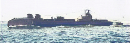 HMS Thule fitted with Type 186 hydrophone set (Knout) for trial, 1955.