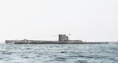 Ex HMS Vulpine as STØREN (U2) after the deck gun was removed in 1953