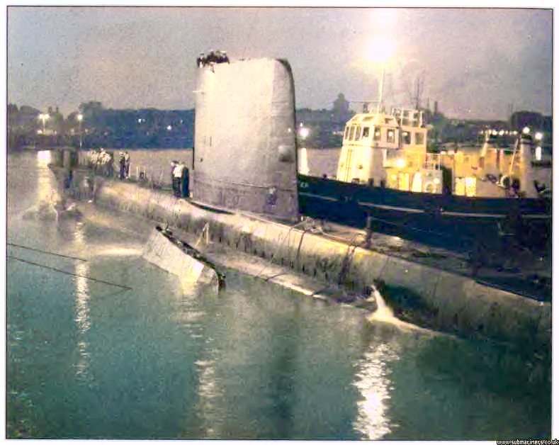 Artemis sank alongside HMS Dolphin in 1971
