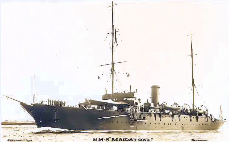 Submarine Depot Ship Maidstone - 1912