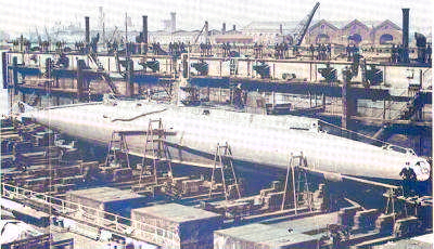 B Class being fitted out in Devonshire Dock