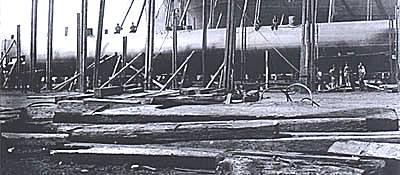 Nordenfelt submarine under construction at Barrow