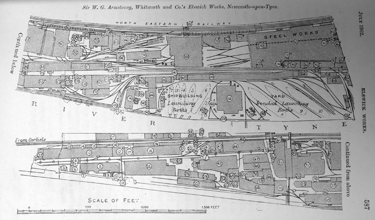 1902 Plan of the Elswick Works