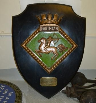 Adoption Plaque presented by the Lords Commissioners of the Admiralty to the Borough of Boston, Lincolnshire. To commemorate the adoption of HMS Parthian during Warship Week, March 21st 1942
