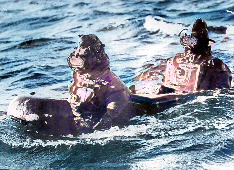 'Human torpedo' divers train in 1942 for their mission to sink the Nazi's Tirpitz battleship