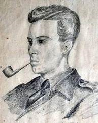 Lorimer in a sketch drawn by his commanding officer, Donald Cameron VC while they were in PoW camp