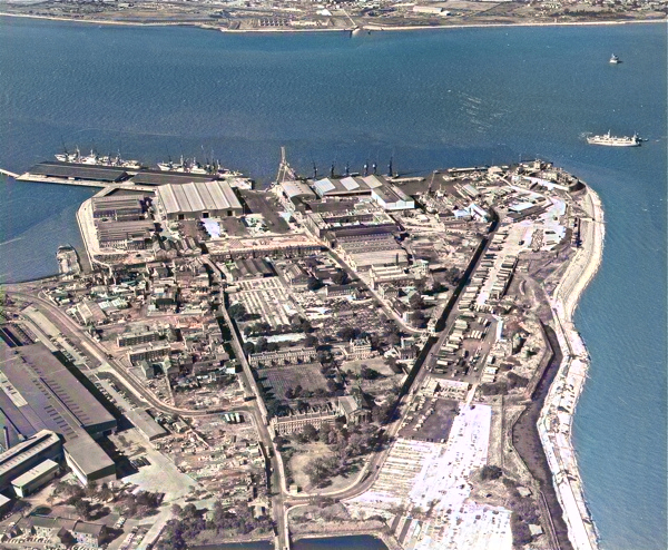Sheerness Dockyard in the nineteen-seventies